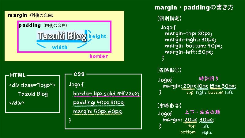 プログラミングのマージンとパディングについて